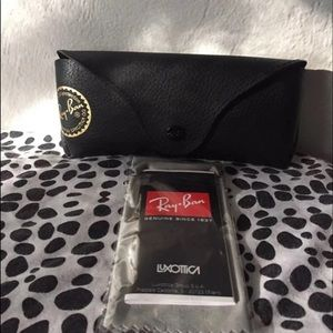 NEW Black Leather Ray Ban Sunglasses Case